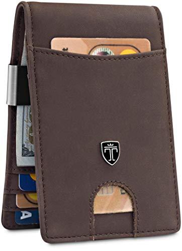 TRAVANDO Money Clip WalletRIO Mens Wallet Front Pocket Wallet Slim Wallet RFID Blocking - Credit Card Holder - Minimalist Mini Bifold Gifts for Men
