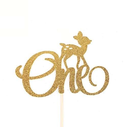 Amazon.com: Deer One Cake Topper, Oh Deer 1st Birthday