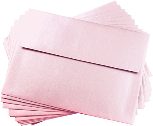 A6 Rose Quartz Metallic Straight Flap Envelopes, Stardream 81lb, 25 pack (Stardream Shimmer Envelope)
