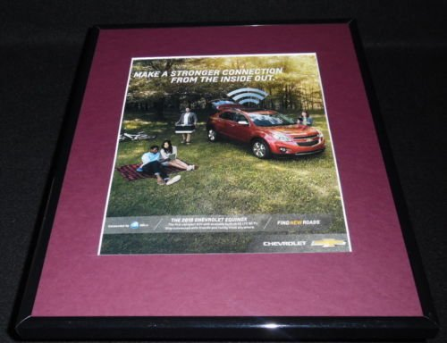 2015 Chevrolet Equinox Framed 11x14 ORIGINAL Advertisement -