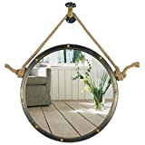 50/60/70cm Diameter Round Hanging Mirror Living Decoration Vanity Mirror Shaving Mirror Bathroom with Chain Wall Mirror
