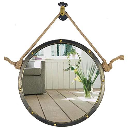 50/60/70cm Diameter Round Hanging Mirror Living Decoration Vanity Mirror Shaving Mirror Bathroom with Chain Wall Mirror by GYX-Bathroom Mirror (Image #3)