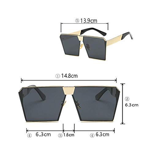 polarisées Aly Lunettes de Unisexes Soleil carrées Classiques pour de D F Lunettes Hommes Soleil Couleur pxpqIwrd