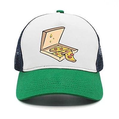 SJSNBZ Pizza Cartoon Mens Womens Fashion mesh Golf Cap