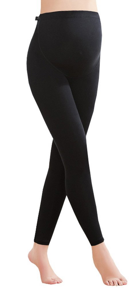 Foucome Women's Over The Belly Super Soft Support Maternity Leggings Black M/Label XL