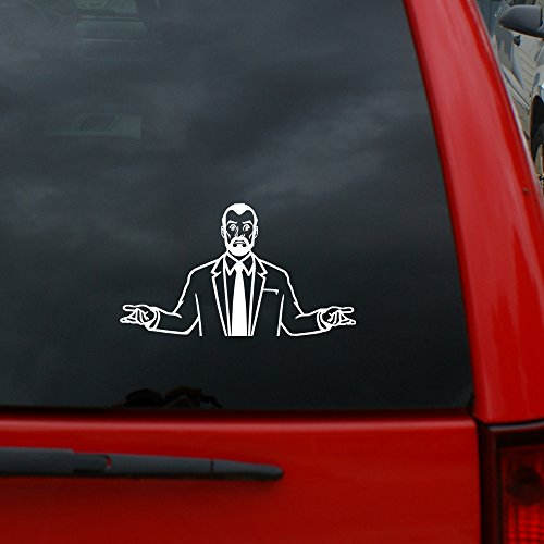 Black Heart Decals & More Archer - Dr. Krieger Vinyl Decal Sticker | Color: White | 5