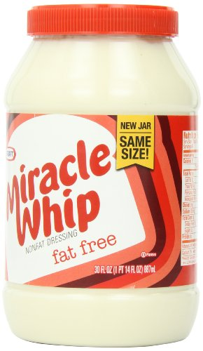 Kraft Miracle Whip Fat Free (30 oz Jars, Pack of 2)