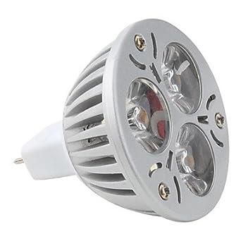 KLM Focos MR16 GU5.3 3 W 3 LED de Alta Potencia 270 LM K Blanco Natural DC 12 V: Amazon.es: Iluminación