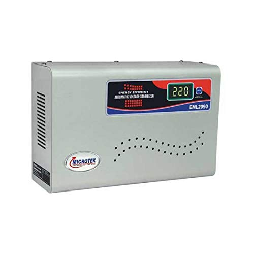 Microtek EML2090 100 290V Digital Voltage Stabilizer  Metallic Grey