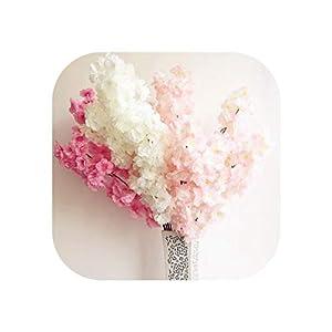 6Pcs Fake Cherry Blossom Flower Branch Begonia Sakura Tree Stem for Event Wedding Tree Deco Artificial Decorative Flowers 32