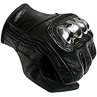 Men's Steel Knuckle Motorcycle Gloves Touchscreen Carbon...