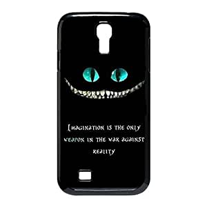 Custom Personalized Damage Proof Back Case Cover with Cheshire Cat Quotes We Are All Mad Here for Samsung Galaxy S4 I9500 -Black030905
