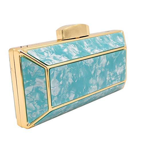 borse a per blu Flada borse donna tracolla da festa da Borse per acrilica Pochette qRSZnTHT