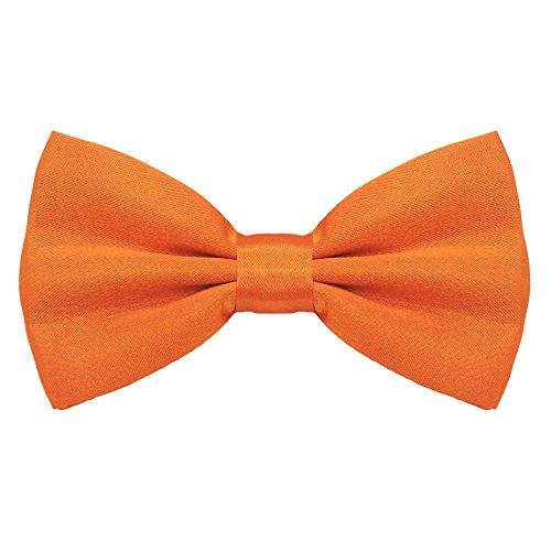 Orange Bowties (Startby Mens Adjustable Neck Solid Bow Ties Pre Tied Orange)