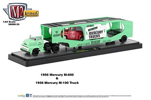 M2 Machines Auto Hauler 33 1956 Mercury M600 Truck & 56 Mercury M100