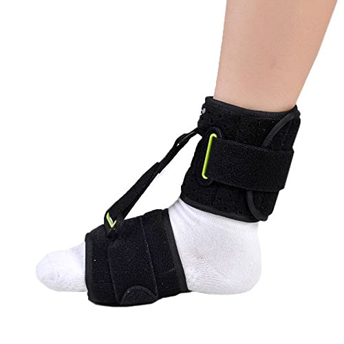 Foot Drop Night Splint (Ober Drop Foot Orthosis Ankle Joint Brace Night Time Pain Relief Plantar Fasciitis Splints Orthotics Corrector Day and Night Foot Drop Correction)