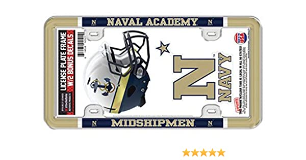 WinCraft United States Naval Academy Premium License Plate Frame metal with inlaid acrylic