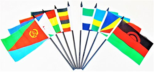 African Union Polyester Table Desk Flag