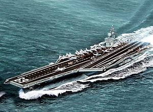 Trumpeter 1/700 USS Dwight D. Eisenhower CVN69 Aircraft Carrier 1978 Model Kit