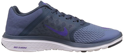 Nike Wmns Nike Fs Lite Run 3 - Zapatillas de running Mujer Azul (Ocn Fg / Frc Prpl-Sqdrn Bl-White)