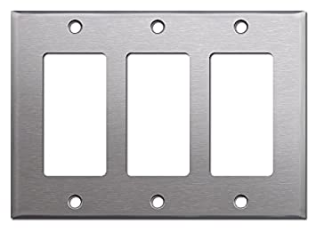 Click and Ship Hardware Brushed Satin Nickel Stainless Steel Wall Covers Switch Plates /& Outlet Covers Single Toggle