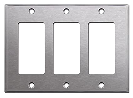 Brushed Satin Nickel Stainless Steel Wall Covers Switch Plates