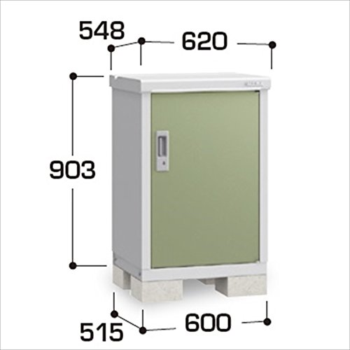 『配送は関東東海限定』イナバ物置 BJX/アイビーストッカー BJX-065A 全面棚タイプ  『屋外用ドア型収納庫 DIY向け 小型 物置』 LG(リーフグリーン) B00TZCSTF2 20412