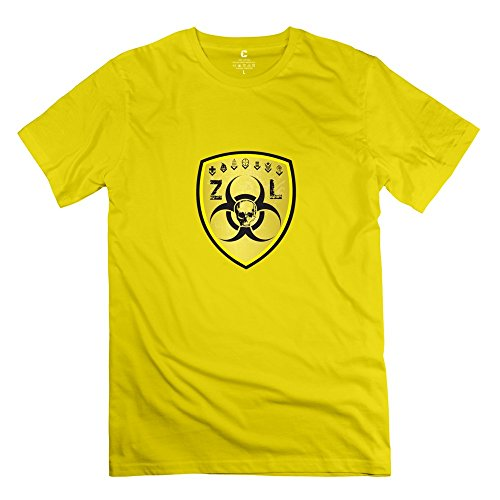 Killing Floor Logo Cute Short Sleeve Yellow T Shirt For Mens Size M