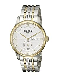 Tissot Men's T0064282203801 Le Locle Analog Display Swiss Automatic Two Tone Watch