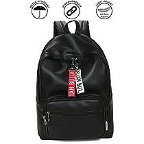 Kossh PU Leather Canvas Light Weight 13 inch Laptop Bag Black