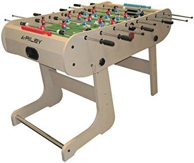 Riley Mesa de futbolín Riley HFT-5N plegable (Formación: 3-2-5-3 ...
