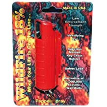 18% WildFire Pepper Spray, 1/2 oz. Pocket/Purse Size, Red Color