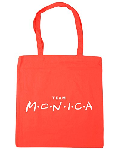 Gym 42cm Tote 10 litres Coral HippoWarehouse x38cm Bag Shopping Beach Team Monica cOSUUqzIT