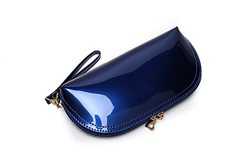 Clutch Bag Bags for Leather Blue Shell Evening Clutch Bag New Bag Coin Purse Bridal Wedding Cocktail Clutch Purse Sunvy Handbag Fashion Pink Zipper Women SqY7wTU
