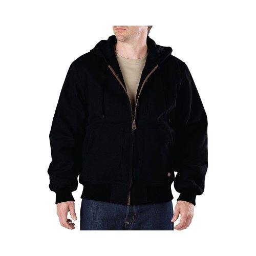 Dickies Men's Sanded Duck Hooded Jacket,Black,US L