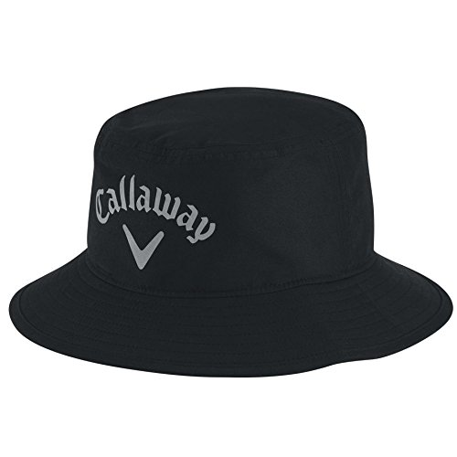 Callaway Men's Aqua Dry Bucket Hat, Black, Large/X-Large Aqua Bucket Hat