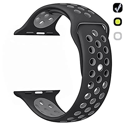 Ferdery Soft Silicone Band Replacement Bracelet Sport Wrist Strap for all Apple Watch Nike+, Series 1,2, Sport, Edtion