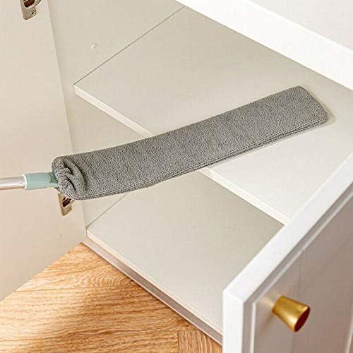 waschbarer Kehrb/ürste lichtgr/ün Flexibler Langer Stiel 95cm-Length Adjustable Fnsky Staubwedel f/ür die Reinigung Wischmopp unter dem Bett f/ür Nachttisch