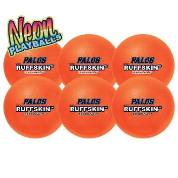 RuffSKIN 6'' Neon Orange/Pink Dodgeball Class Pack of 12 by Palos Sports