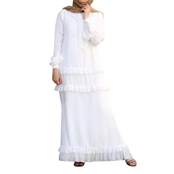 Vestido Largo de Dama de Honor para Mujer SUNNSEAN Vestidos con ...