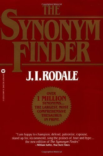 Synonym Finder New Edition By Rodale  J I  Published By Little  Brown Us  1997