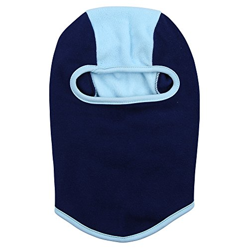 Girls Insulating 2-Tone Lightweight Fleece Balaclava (Navy/Sky, 4-6x) (Navy Seal Beanie Hat)