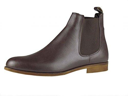 Chelsea Boots - elegant - mit Gummizug - braun