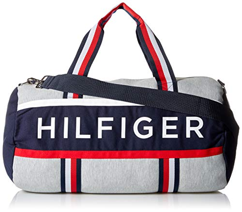 Tommy Hilfiger Mens Duffle Bag Tommy Patriot Colorblock, Grey Heather