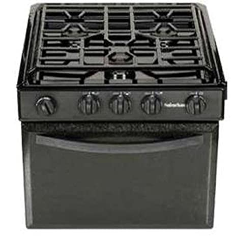 17 Suburban 17 Inch 3206A Gas Range with Conventional Burners-Black w//Piezo Ignition