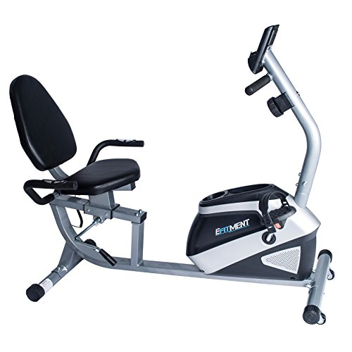EFITMENT Magnetic Recumbent Bike Exercise Bike with High Weight Capacity, Easy Adjustable Seat, LCD Monitor with Pulse and Phone Holder – RB034