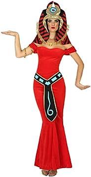 Atosa-39352 Disfraz Reina del Nilo egipcia, Color Rojo, XL (39352)