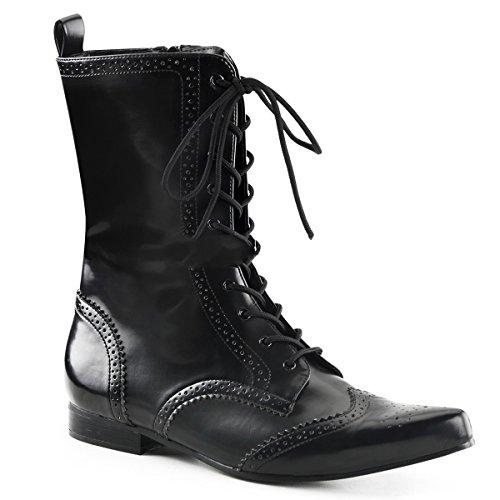 Demonia Brogue-10 - Gothic Punk Industrial Pikes Stiefeletten Schuhe 40-46