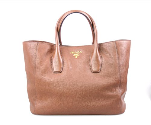 Prada Women's BN2694 UWL F0005 Brown Leather Shoulder Bag (Bag Prada Shoulder Leather Handbag)