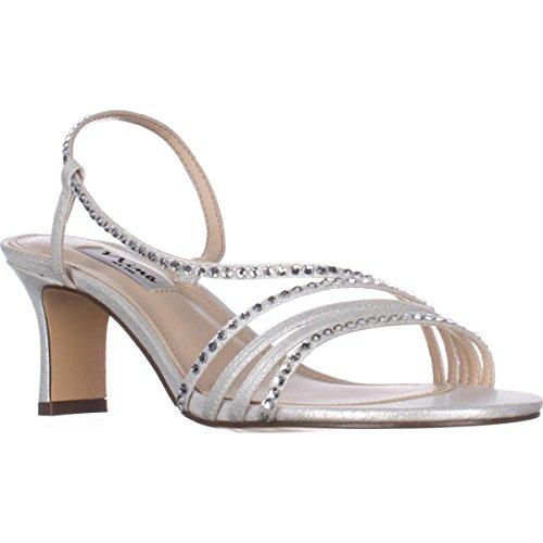 Sandal Silver Nina Ls Gerri Dress Reflect Women's wx8zgnqxT